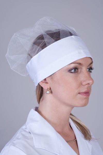 Головной убор-модель-3305 (ткань-коттон/белый/размер 58-60)