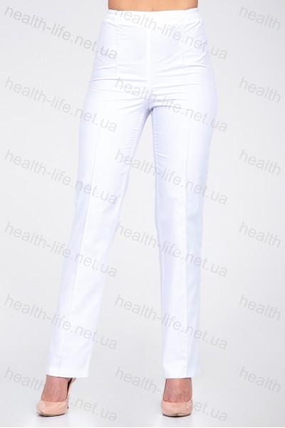 Медицинские штаны-модель-2604 (ткань-х/б/белый/размер 42-66)