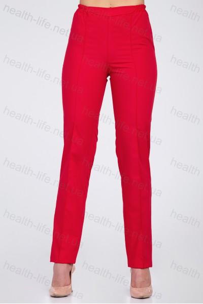 Медицинские штаны-модель-2605 (ткань-коттон/красный/размер 42-60)