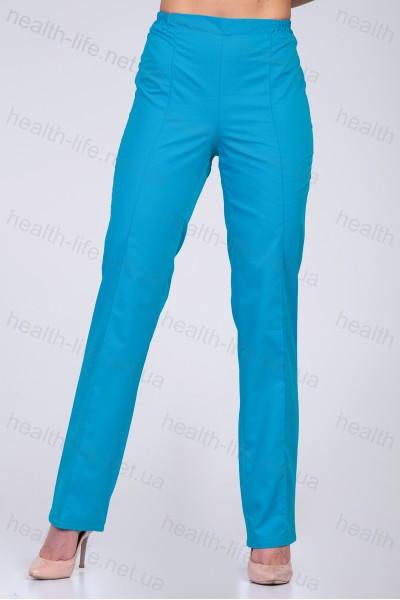 Медицинские штаны-модель-3602 (ткань-коттон/бирюзовый/размер 42-60)
