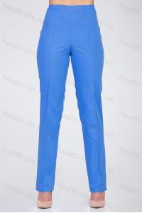 Медицинские брюки-модель-2602 (ткань-х/б/синий/размер 42-66)