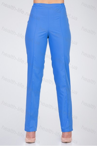Медицинские штаны-модель-2602 (ткань-х/б/синий/размер 42-66)
