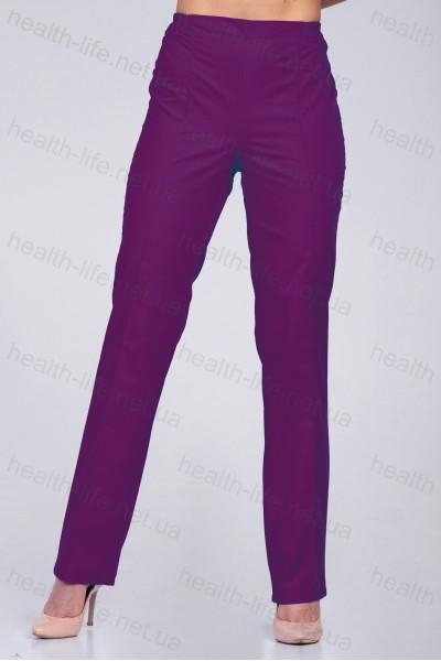 Медицинские брюки -модель-3605 (ткань-коттон/баклажан/размер 44-60)