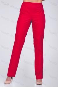Медицинские брюки -модель-2605 (ткань-х/б/красный/размер 42-60)