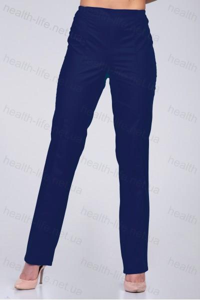 Медицинские штаны-модель-2607 (ткань-х/б/темно-синий/размер 42-66)