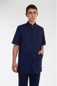 Медицинский костюм-модель-3238 (ткань-коттон/темно-синий/размер 42-60)